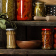 Homemade canned vegetables - Stock Photo