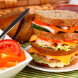 Stock Photo: Appetizing sandwich with fresh vegetable