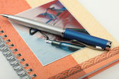 O punho em um notebook — Fotografia Stock