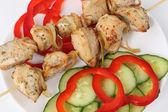 Grillowane mięso i warzywa — Zdjęcie stockowe
