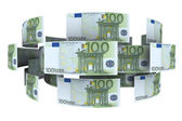 Euro in circulation of money. 3d rendering — Stock Photo