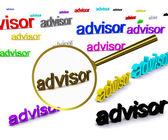 Sök rådgivare — Stockfoto