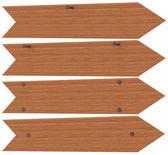 Wooden arrows nailed — Stock Photo