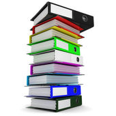A stack of colored folders for office papers — Stock Photo