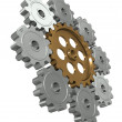 Group gears. Symbol leader in team work — Stock Photo
