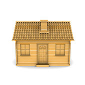 House of Wood. 3d rendering — Stock Photo
