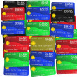 A layer of colored credit cards — Stock Photo