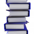 A stack of blue folders for office papers — Stock Photo #6534318