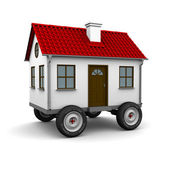 Stylized motorhome on a white background — Stock Photo