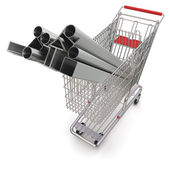 Metal in your shopping cart — Stock Photo
