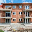 Foto Stock: Family House under construction