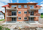 Family House under construction — Stockfoto