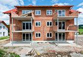 Vivienda unifamiliar en construcción — Foto de Stock
