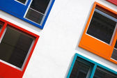 Multi colored windows — Stock Photo