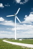 Path to the Wind Turbine — Stock Photo