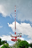 Communication Tower with Clouds — Stock Photo