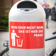 Dustbin in the City - Stock Photo