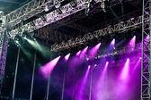紫色舞台 — 图库照片