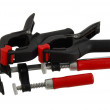 Two pairs of different clamps — Stock Photo