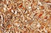 Wooden chips layer — Stock Photo