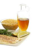 Healthy dinner ingredients — Stock Photo