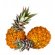 Two fresh juicy pineapples — Stock Photo