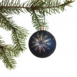 Hanging Blue Ornament — Stock Photo