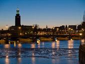 Night scene at Stockholm, Sweden — Stock Photo