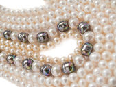 Pearls necklaces jewelry — Stock Photo