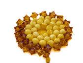 Amber jewel necklace isolated — Stock Photo