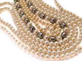 Pearls necklace jewelry — Stock Photo