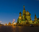Red Square at night, Moscow, Russia — Stock Photo