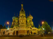 Cathedral of Basil the blessed at night — Stock Photo