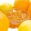 Cirus jam with orange and lemon — Stock Photo