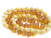 Beautiful amber jewel necklace — Stock Photo