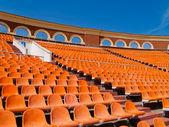 Row of seats in Minsk football stadium — Stock Photo