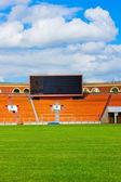 Football field with score board — Stock Photo