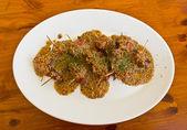 Spek broodjes met kippenlever — Stockfoto