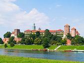 Royal castle at Wawel, Krakow, Poland — Stock Photo