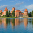Royalty-Free Stock Photo: Castle on lake Galve in Trakai, Lithuania