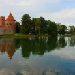 Trakai castle fortification and Galve lake — Stock Photo #6460131