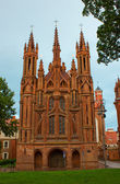 St. Anne's Church in Vilnius — Stock Photo