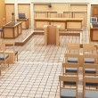 Courtroom panorama — Stock Photo