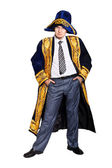 Serious Businessman in Asian national costume — Stock Photo