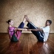 Royalty-Free Stock Photo: Couple yoga of man and woman
