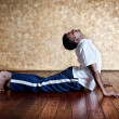 Yoga bhudjangasana cobra pose — Stock Photo