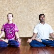 Meditation in Padmasana lotus posture — Stock Photo