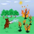 Forest fire — Vector de stock #6362685