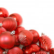 Stock Photo: Red christmas ornament background