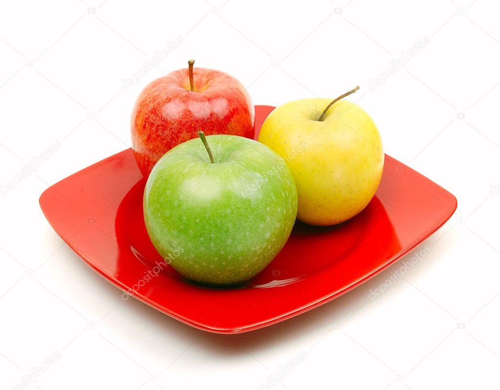 яблоки на тарелке рисунки карандашом